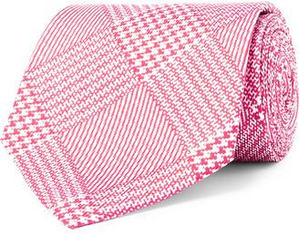 Emma Willis 8.5cm Prince Of Wales Checked Silk-Jacquard Tie