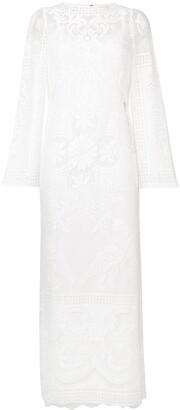 Dolce & Gabbana floral crochet dress