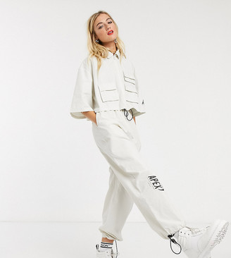 COLLUSION super wide parachute pants in stone