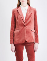 Frame Tailored-fit velvet blazer