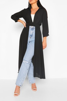 boohoo Woven Button Through Maxi Shirt