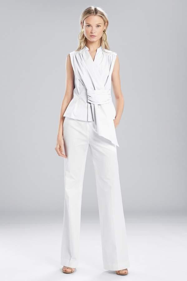 Natori Josie Cotton Shirting Sleeveless Top