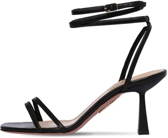 Aquazzura 75mm Isabel Leather Sandals