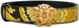 Versace Hibiscus-print belt