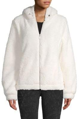 Andrew Marc Hooded Faux-Fur Teddy Jacket