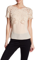The Kooples Short Sleeve Lace Shirt