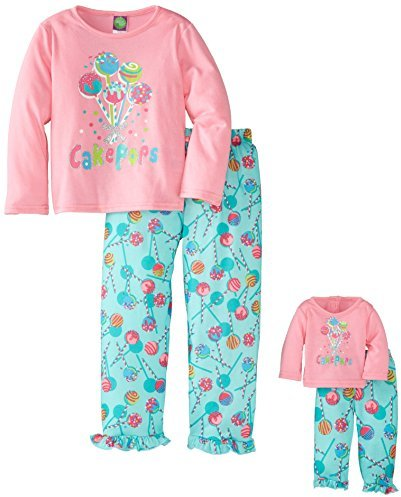 Dollie & Me Little Girls' Cake Pops Screenprint Pajama Pant Set