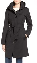 MICHAEL Michael Kors Petite Women's Hooded Trench Coat
