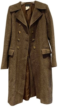 Patrizia Pepe Brown Wool Coat for Women
