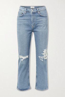 AGOLDE Wilder Organic Mid-rise Distressed Straight-leg Jeans