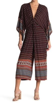 Angie Twist Front Kimono Sleeve Jumpsuit