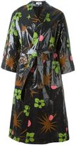 Isa Arfen tropical print raincoat - women - Linen/Flax - 6