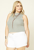 Forever 21 FOREVER 21+ Plus Size Cuffed Shorts