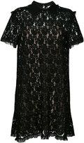 RED Valentino frill trim lace dress - women - Cotton/Polyamide/Polyester/Viscose - 38