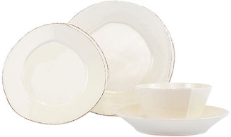 Vietri Set of 4 Lastra Place Setting - Linen