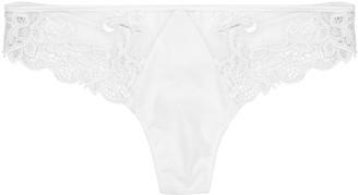 Simone Perele Saga black guipure lace thong