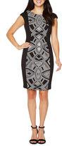 Melrose Short Sleeve Embellished Sheath Dress