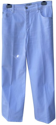 Eve Denim White Cotton Trousers for Women