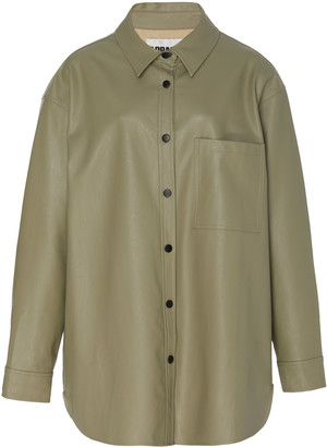 Apparis Evelyn Vegan Leather Oversized Shirt