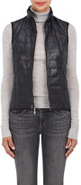 Barneys New York WOMEN'S QUILTED FAUX-LEATHER VEST-BLACK SIZE M