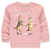 CAT George Light-Up Slogan Christmas Sweatshirt