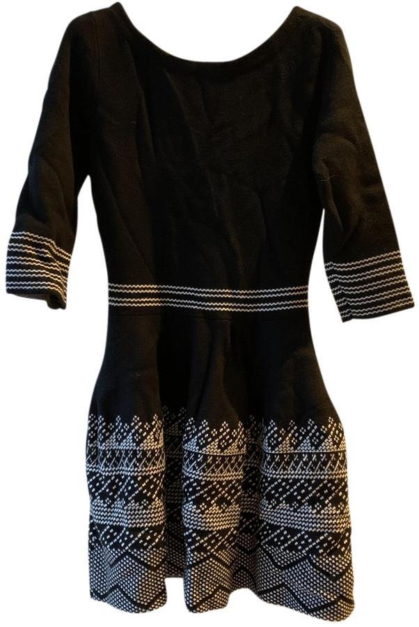 Maje Black Wool Dresses