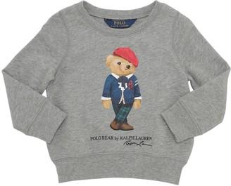 Ralph Lauren Bear Printed Cotton Blend Sweatshirt