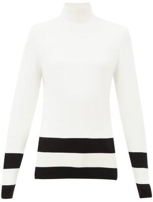 Fusalp Ubac Intarsia-striped Sweater - White