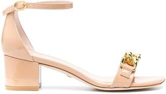 Stuart Weitzman Amelina chain-embellished sandals