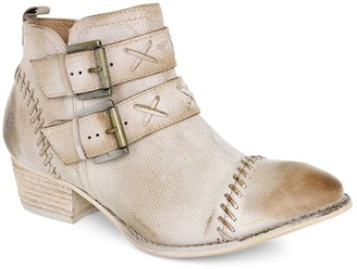 ROAN Western Leather Ankle Booties - Dune