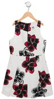 Milly Minis Girls' Floral Print Pleated Dress