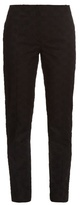 Nina Ricci Broderie-anglaise tapered-leg trousers