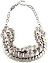 Oscar de la Renta Triple Stand Hammered Link Necklace