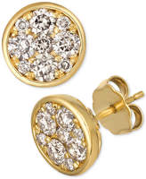 LeVian Le Vian Strawberry & Nude Diamond Cluster Stud Earrings (1 ct t.w.)