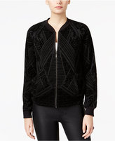 Bar III Velvet Bomber Jacket, Only at Macy's