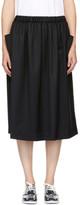 Comme des Garcons Black Drawstring Skirt