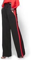 New York & Co. Contrast-Stripe Drawstring-Tie Pant - Black