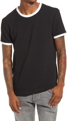 Topman Textured Ringer Classic T-Shirt