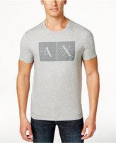 Armani Exchange Men's Triangulation Graphic-Print Logo T-Shirt