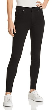 AG Jeans Farrah Raw Hem Ankle Jeans in Black Ink