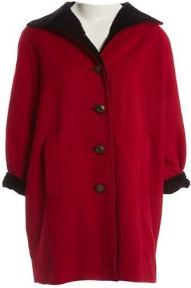 Saint Laurent Red Wool Coat for Women