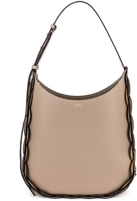 Chloé Medium Darryl Leather Bag in Motty Grey | FWRD