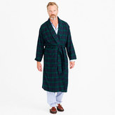 J.Crew Flannel robe in Black Watch