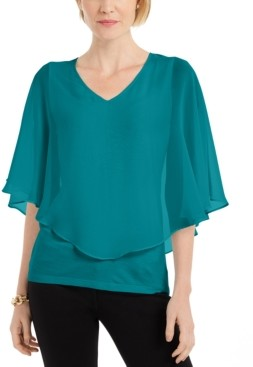 JM Collection Petite Overlay Top, Created for Macy's
