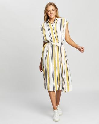 Lacoste Basque Stripe Fluid Dress