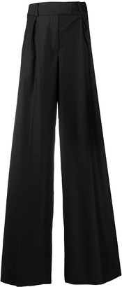 Gianfranco Ferré Pre-Owned 2000s Pinstriped Wide-Legged Trousers
