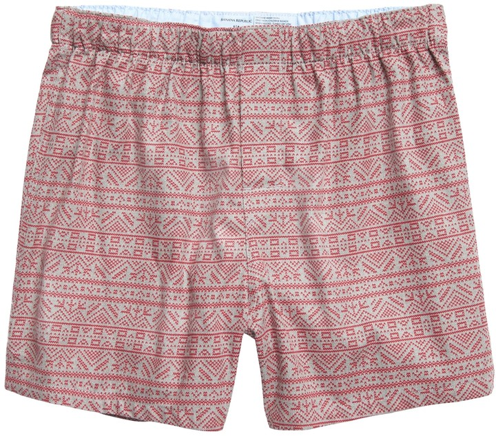 Banana Republic Fair Isle Flannel Boxer