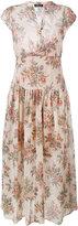 Twin-Set pleated dress - women - Cotton - 48