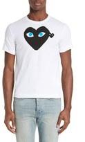 Comme des Garcons Graphic T-Shirt with Heart Appliqué