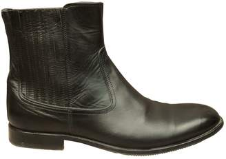 Galliano Black Leather Boots